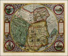 China, Japan, Korea and India Map By Cornelis de Jode