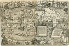 World and World Map By Sebastian Munster - Simon Grynaeus