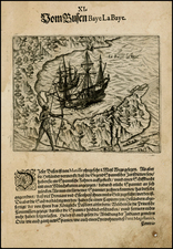 Southeast Asia and Philippines Map By Theodor De Bry / Olivier Van Noort