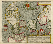 Germany, Baltic Countries and Scandinavia Map By Georg Braun  &  Frans Hogenberg