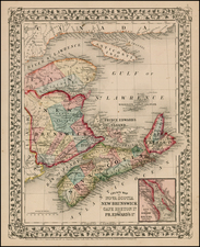 Canada Map By Samuel Augustus Mitchell Jr.