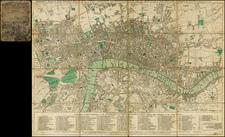 British Isles and London Map By Carington Bowles  &  Jonathan Carver