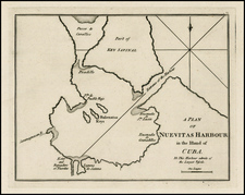 Caribbean and Cuba Map By Sayer & Bennett