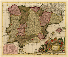 Spain and Portugal Map By Peter Schenk