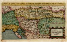Hungary, Balkans, Croatia & Slovenia and Serbia Map By Cornelis de Jode