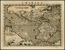 Western Hemisphere, Polar Maps, South America, Australia and America Map By Giovanni Antonio Magini