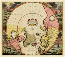 Northern Hemisphere, Polar Maps, Canada, Russia and Scandinavia Map By Frederick De Wit