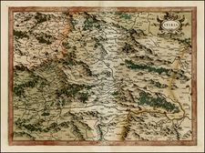 Austria and Balkans Map By Gerhard Mercator