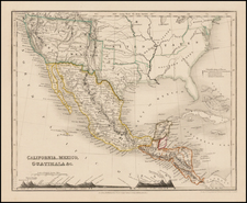 Texas, Southwest, Rocky Mountains, Mexico and California Map By Thomas Milner