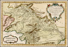 India and Central Asia & Caucasus Map By Jacques Nicolas Bellin