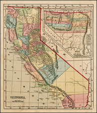 Southwest, Rocky Mountains and California Map By Charles Morse