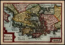 Greece, Turkey and Balearic Islands Map By John Speed