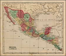 Texas, Southwest and Mexico Map By Charles Morse