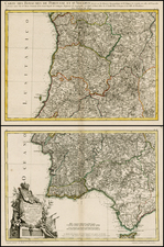 Portugal Map By Giovanni Antonio Rizzi-Zannoni