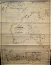 Australia Map By John William Norie