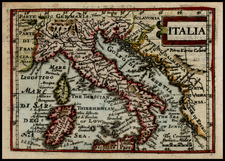 Italy and Balearic Islands Map By John Speed