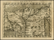 Egypt and North Africa Map By Giovanni Antonio Magini