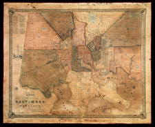 Mid-Atlantic Map By James Charles Sidney  &  James P. Neff