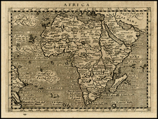 Africa and Africa Map By Giovanni Antonio Magini
