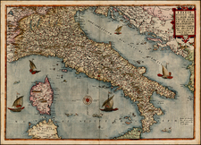 Italy Map By Gerard de Jode