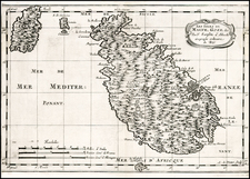 Italy and Malta Map By Nicolas Sanson