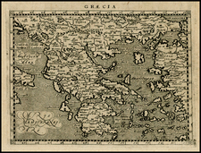 Greece, Turkey and Balearic Islands Map By Giovanni Antonio Magini