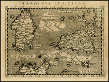 Italy, Mediterranean and Balearic Islands Map By Giovanni Antonio Magini