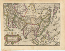 Asia and Asia Map By Abraham Ortelius