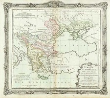 Europe, Russia, Balkans, Greece and Turkey Map By Louis Brion de la Tour