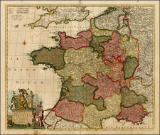 France Map By Peter Schenk