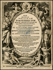 Curiosities and Title Pages Map By Giovanni Antonio Magini
