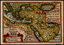 Turkey, Central Asia & Caucasus, Middle East, Turkey & Asia Minor, Egypt, North Africa and Balearic Islands Map By John Speed / Pieter van den Keere