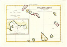 African Islands, including Madagascar Map By Rigobert Bonne