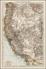 Southwest, Pacific Northwest and California Map By Anonymous