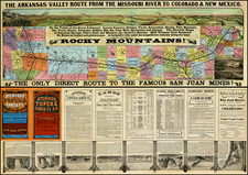 Midwest, Plains and Rocky Mountains Map By Woodward & Tiernan Printing Company