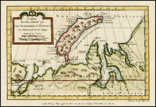 Polar Maps and Russia Map By Jacques Nicolas Bellin