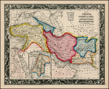 Central Asia & Caucasus and Turkey & Asia Minor Map By Samuel Augustus Mitchell Jr.