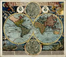 World, World, Curiosities and Celestial Maps Map By Johann Baptist Homann