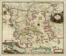 Greece, Turkey and Balearic Islands Map By John Senex