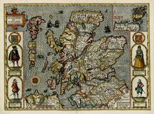 British Isles and Scotland Map By John Speed