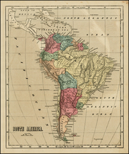 South America Map By Charles Morse
