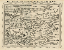 Poland Map By Sebastian Munster