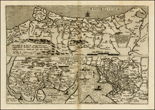 Germany, Poland and Baltic Countries Map By Cornelis de Jode