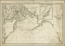 Polar Maps, Alaska, Pacific, Russia in Asia, California and Canada Map By Alexander Wilbrecht