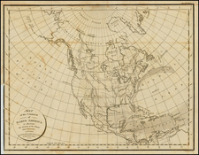 Atlantic Ocean, United States and North America Map By Constantin F. Volney