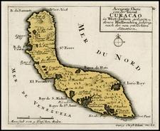 Caribbean Map By Christian Friedrich von der Heiden