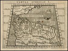 North Africa Map By Giovanni Antonio Magini