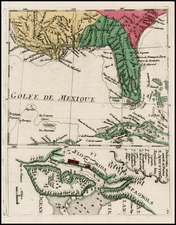 Florida, South and Southeast Map By Christian Friedrich von der Heiden