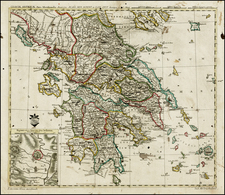 Greece Map By Leonard Von Euler