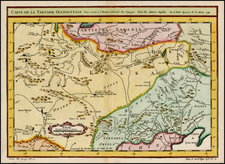 China, Central Asia & Caucasus and Russia in Asia Map By Jacques Nicolas Bellin